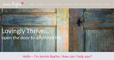 Jennie Bayliss website